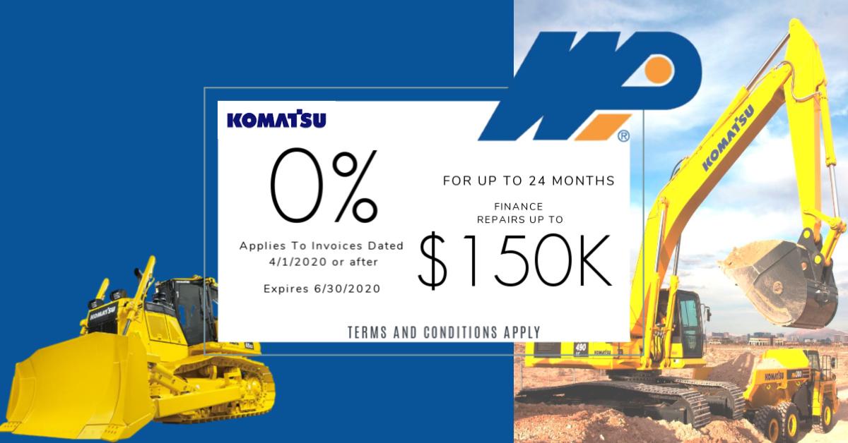 Komatsu Finanancial April 1 - June 30,2020